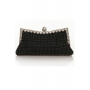 Fashion Solid Color Rhinestone Embellishment Beaded Evening Clutch Bag for Women 24*4*10 CM