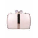 Stylish Plain Metal Crystal Rhinestone Embellishment Evening Clutch Bag 16*12*4 CM