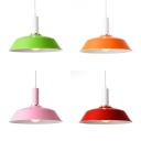 Kitchen Hallway Pendant Light Metal Single Light Industrial Height Adjustable Hanging Light