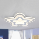 Acrylic Star LED Flush Light Modern Third Gear/Warm/White Lighting Ceiling Lamp for Teen