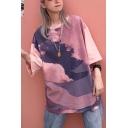 Girls Summer Stylish Round Neck Cotton Loose Oversized T-Shirt