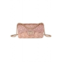 New Stylish Plain Woven Crossbody Clutch Bag for Ladies 18*7*10 CM