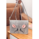 Cute Cartoon Mouse Pattern Square Crossbody Shoulder Bag