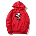 Hot Popular YOU CAN PLAY Letter Cartoon Figure Printed Long Sleeve Unisex Sport Loose Casual Hoodie