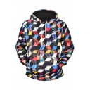 New Fashion 3D Geometric Printed Sport Loose Long Sleeve Pullover Hoodie