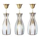 Traditional Vase Shape Ceiling Light 1 Light Glass Metal Ceiling Lamp in Brass for Bedroom