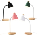 Bedroom LED Desk Light with Flexible Gooseneck Eye-Caring Metal 1 Light Modern Reading Light in Black/Green/Pink/White