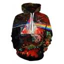 New Stylish Rainbow Triangle Splash-Ink 3D Printed Long Sleeve Pullover Hoodie