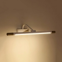 Modern Rotatable Tube Sconce Light 19/25 Inch Waterproof Vanity Light in White for Makeup Table