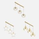 Gold Diamond/Globe/Star Island Light 3 Lights Simple Style Pendant Lamp for Display Window