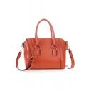 Trendy Solid Color Crocodile Pattern Commuter Shoulder Handbag 26*13*23 CM