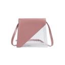 New Stylish Transparent PU Leather Shoulder Crossbody Bag 18*5*17*8 CM