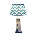 Mediterranean Style Lighthouse Desk Light Resin 1 Light Dimmable LED Reading Light in White