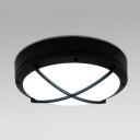 Contemporary Rustproof LED Ceiling Mount Light Radar Sensor Acrylic Flush Light with White/Yellow Lighting for Porch