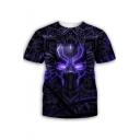 Popular Black Panther Cool 3D Pattern Round Neck Short Sleeve T-Shirt