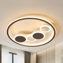 Acrylic Dot LED Ceiling Light Living Room Modern Stepless Dimming/Warm/White Flush Mount Light