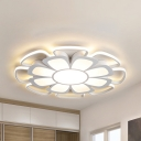 Living Room Petal Ceiling Mount Lihgt Acrylic Modern Warm/White Lighting LED Flush Light