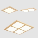 Square Rectangle LED Ceiling Lamp 1/2/4 Heads Modern Stylish Flush Light in Warm/White for Bedroom