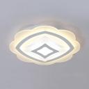 Lovely Petal LED Ceiling Lamp Acrylic Warm/White Lighting Flush Mount Light for Child Bedroom