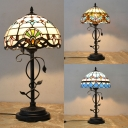Study Room Dome Desk Light Stained Glass Single Light Tiffany Baroque/Mediterranean/Victorian Table Light