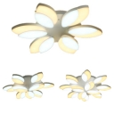 Living Room Floral Flush Mount Light Acrylic 6/9/12 Lights Modern LED Ceiling Lamp in Warm/White