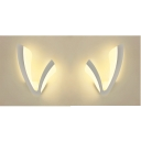Acrylic V Shape Wall Light Simple Style White LED Sconce Light in Warm for Adult Child Bedroom
