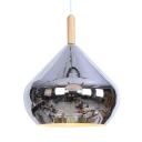 Modern Length Adjustable Ceiling Lamp 1 Light Metal Suspension Light in Chrome/Rose Gold for Bedroom