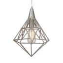 Metal Wire Frame Ceiling Pendant One Light Industrial Hanging Light for Living Room Hallway
