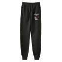 Funny Letter HOW ABOUT NO Grumpy Cat Printed Drawstring Waist Loose Casual Sport Sweatpants