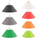 Funnel Cafe Pendant Light Plastics 1 Light Vintage Multi Color Option Hanging Light