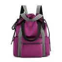 Designer Large Capacity Striped Strap Multifunction Waterproof Nylon Travel Bag Drawstring backpack 31*15*37 CM