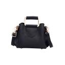 Trendy Solid Color leather Top Handle Satchel Tote Handbag 21*10*15 CM