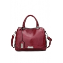 Trendy Solid Color Rivet Embellishment Large Capacity Satchel Tote Handbag 28*14*20 CM