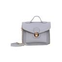 Cheap Fashion Solid Color Small Hasp Crossbody Satchel Bag 17*7*14.5 CM