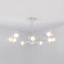 Orb Shade Living Room Chandelier Clear/Milk Glass 10/12/16 Lights Creative Pendant Light in White