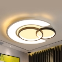 Round Living Room Ceiling Mount Light Acrylic Contemporary LED Flush Light in Neutral/Warm/White