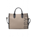 Fashion Letter BAGS Printed Canvas Causal Tote Shoulder Bag 33*11*37 CM