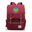 Fashion Large Capacity Logo Letter W Stars Printed Laptop Bag Casual School Backpack 29*13.5*43 CM