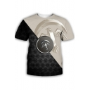 Popular Game of Thrones House Family Animal Badge 3D Printed Round Neck Short Sleeve Black and White T-Shirt