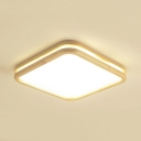 Contemporary Square Panel Ceiling Mount Light Acrylic LED Flush Light in Warm/White for Hotel