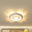 Petal Living Room Ceiling Mount Light Acrylic Modern LED Ceiling Lamp in Warm/White/Stepless Dimming