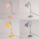 Simple Style Orb Desk Light Metal 1 Light Rotatable LED Reading Light in Blue/Green/Pink/Yellow for Study Room