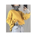 Embroidered Letter High Neck Fake Two Pieces Patchwork Sweatshirt