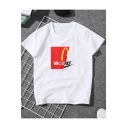 Cool Simple Letter Logo MCD Printed Short Sleeve Casual Summer Unisex Tee