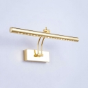 Metal Tube LED Vanity Light 16/21.5/27 Inch Rotatable Gold Sconce Light with White Lighting for Bathroom