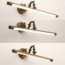 Vintage Tube LED Wall Light Metal 14/18/23 Inch Brass Sconce Light in Neutral for Bedroom Mirror