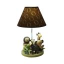 1 Light Tropical Animal Reading Light Cartoon Resin Desk Lamp in Brown for Child Bedroom