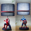 Cartoon Blue Reading Light Movie Character 1 Light Resin Desk Light with Plug In Cord for Teen