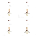 Modern Style Suspension Light Cone/Dome/Scalloped Edge 1 Light Glass Pendant Light for Bedroom