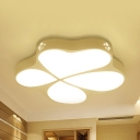 Metal Abstract Pattern Ceiling Lamp Bedroom Kids LED Flush Ceiling Light in Warm/White